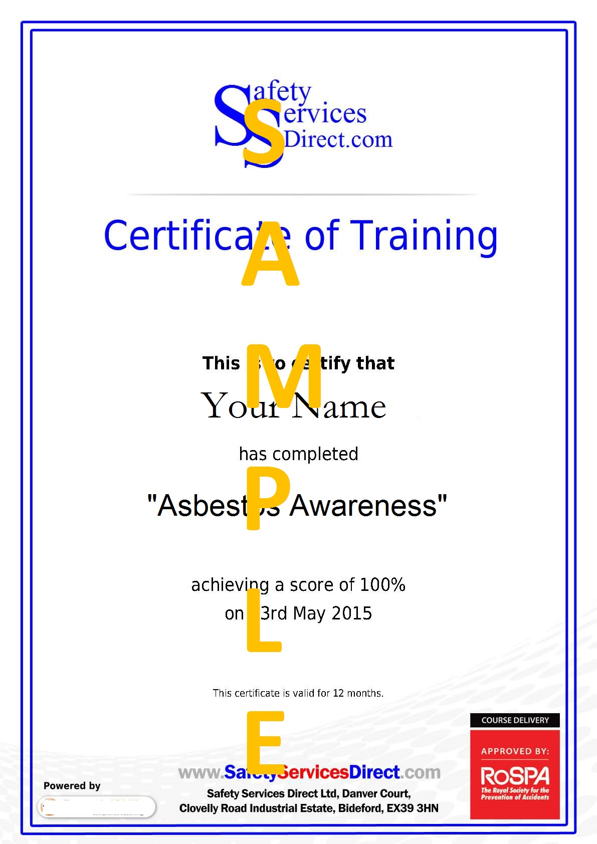 safety certificate template - Etame.mibawa.co
